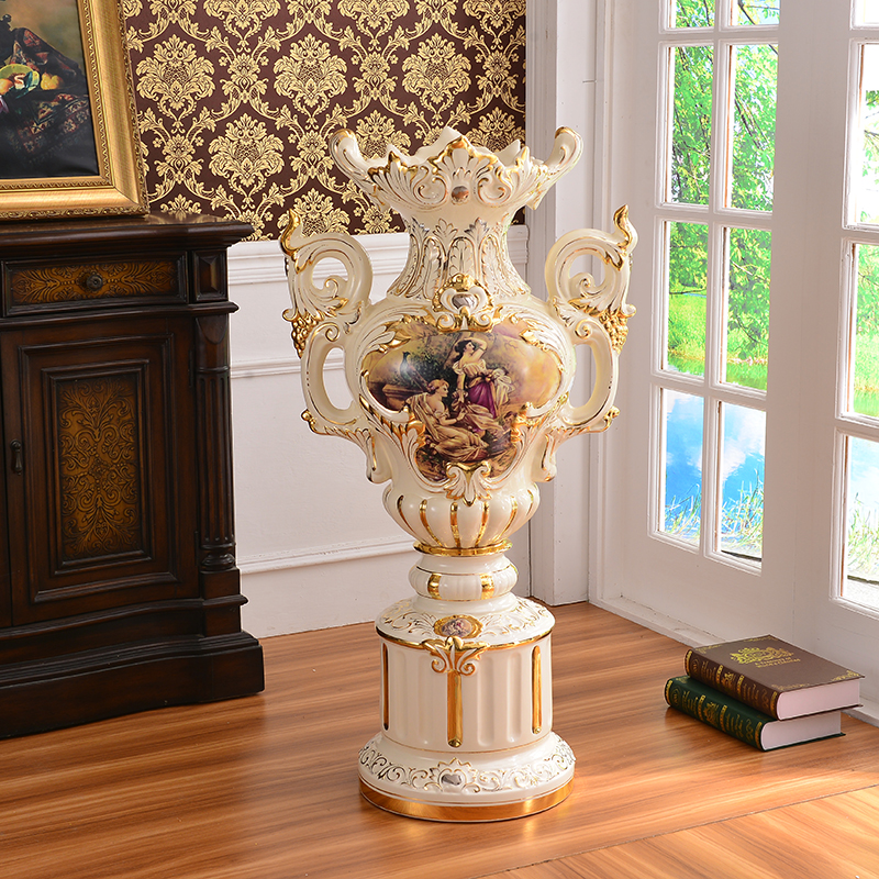 USD 827.32] European style ceramic floor standing large vases high ...
