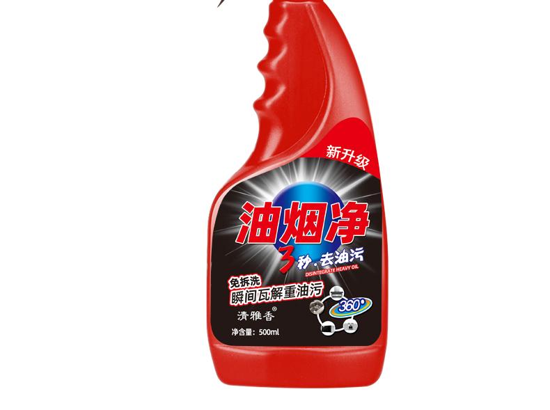 清雅香 强力去油污清洗剂油烟净500g*3瓶装