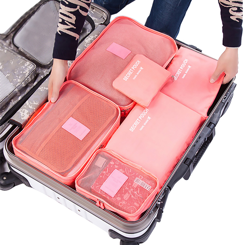 a64ec72134f7 Travel storage bag set luggage sorting bags clothes bags travel packing bag  storage bag