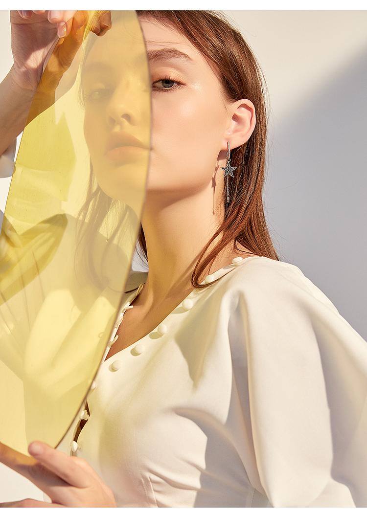 东大门星星耳环女气质韩国2019新款潮网红耳坠长款百搭耳钉耳饰品商品详情图