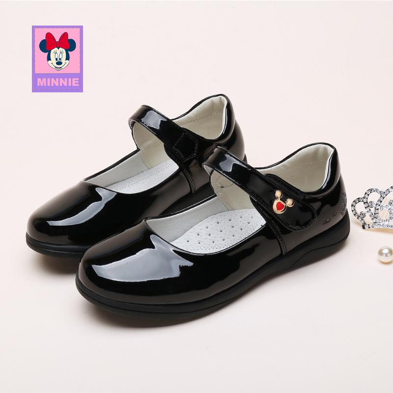 迪士尼童鞋女童皮鞋2019新款四季儿童皮鞋女孩公主鞋中大童网红鞋