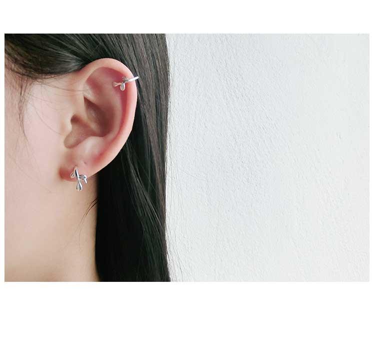 高仿圣罗兰ysl百搭个性S925纯银气质叶子耳饰品URT923 第7张