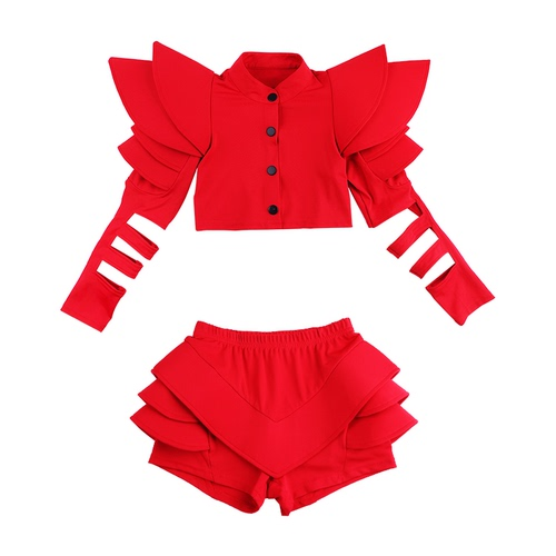 Hip Hop Dance Costumes for girls Jazz Dance Dress Girls environmental protection children model show suit fashion hip hop hip hop T-stage fashion personality domineering show dress trend