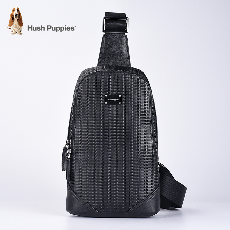 649bdaf33 Under the shelf hush puppies new woven texture chest bag men messenger bag  backpack casual trend stitching first layer of leather
