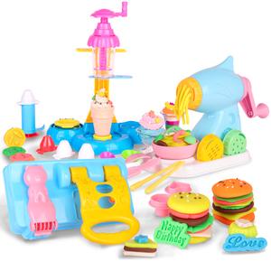 智高儿童彩泥面条机手工玩具橡皮无毒彩泥儿童冰淇淋模具工具套装