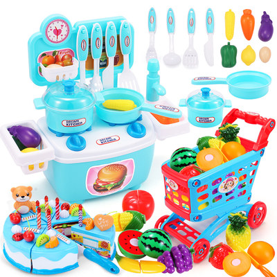 Children's cooking kitchen set simulation kitchenware play house baby toy full set of kids cooking play house girl