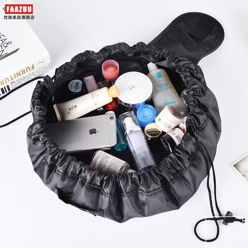 韩国vely vely懒人化妆包便携大容量抽绳洗漱包多功能简约收纳包