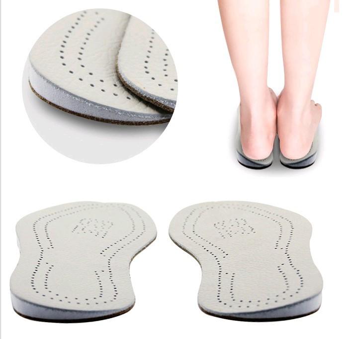 牛皮O型腿矫正鞋垫 矫正足内翻外八字脚纠正鞋垫男女通用