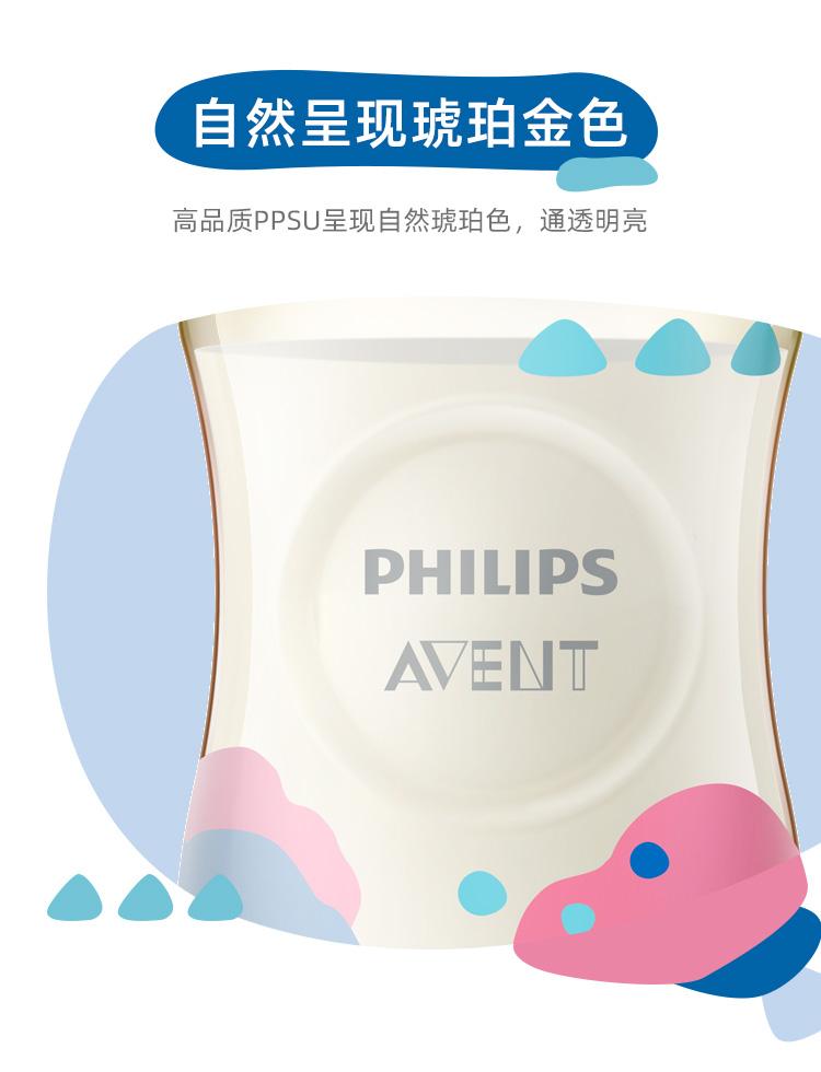 飞利浦新安怡宝宝大小奶瓶宽口径防胀气耐摔塑料新生婴儿正品详细照片