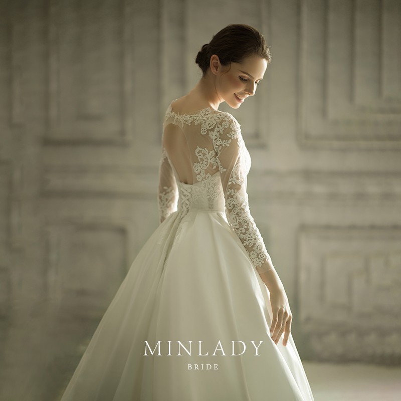 Usd 1574 76 Original Satin Wedding Dress 2020 New Bridal Lace Long Sleeved Drag Tailed Princess Simple Show Thin Vintage Court Wedding Dress Wholesale From China Online Shopping Buy Asian Products Online From,Plus Size Dresses For Wedding Guest Summer
