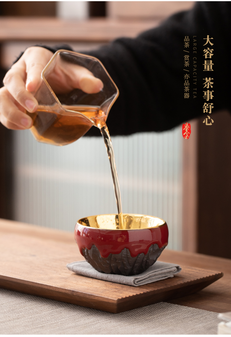 Gold win over a cup of tea master of kung fu tea cups ceramic iron tire sample tea cup high - grade tea cup cup master list