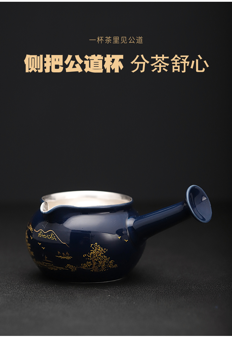 New coppering. As silver colored enamel lazy tea set household jingdezhen ceramic kung fu tea tea tureen the teapot