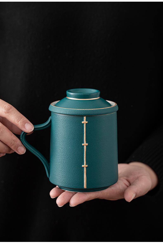 Coarse TaoLiu office cup hands cup silver cup filter silver cup silver cup tea tao separation porcelain tea cups of tea