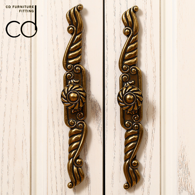 European Style Cabinet Drawer Handle Wardrobe Single Hole Handle Hardware  Antique Cabinet Door Small Handle