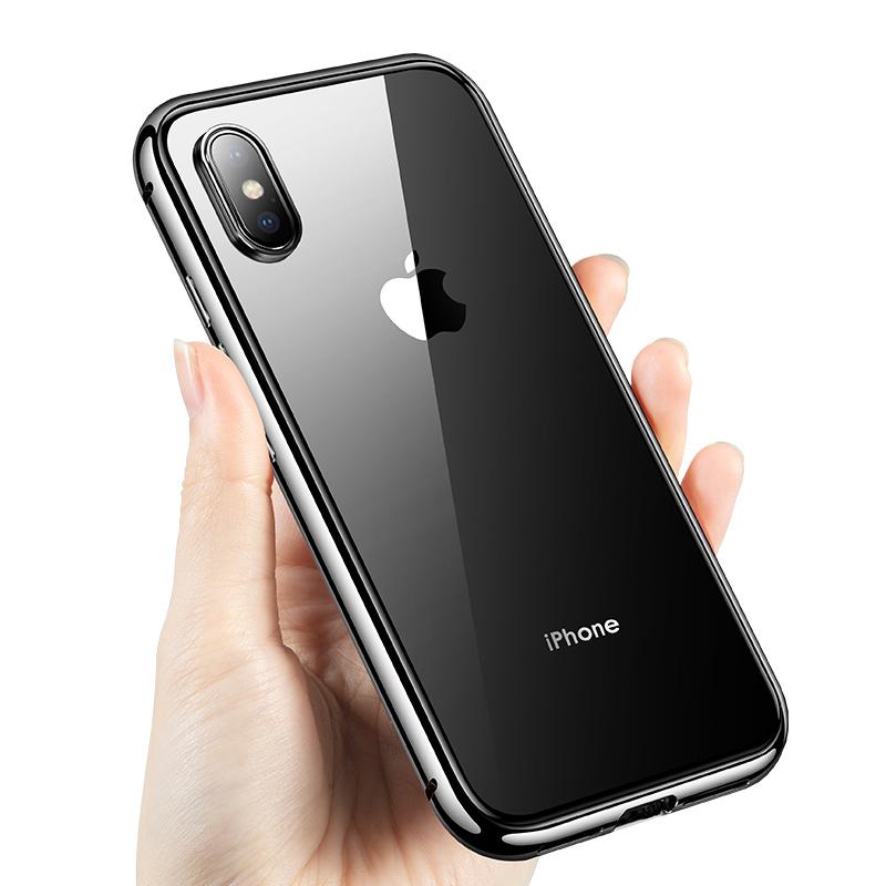 【双面玻璃】苹果11promax手机壳创意透明iphone11手机壳摄像头全包绿色透明ins风网红红色xr保护壳xs磁吸