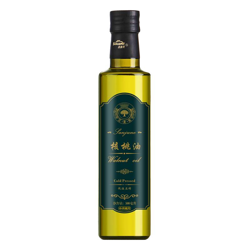 三主元核桃油婴幼儿食用油DHA孕妇儿童宝宝核桃油野生500ml植物油