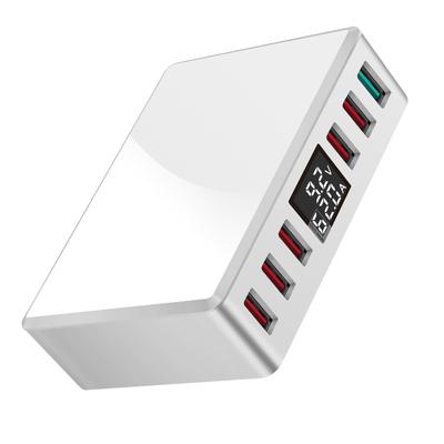 多口usb充电器智能数显多用充电头苹果iphone安卓华为小米oppo手机通用多功能多孔快充插座QC3.0快速闪充插头