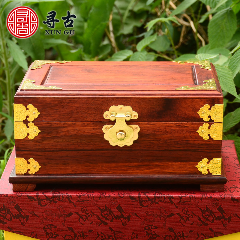 Chinese Antique Woodcarving Jewelry Box Storage Box Solid Wood Jewelry Box  Jewelry Box Jewelry Box Jewelry