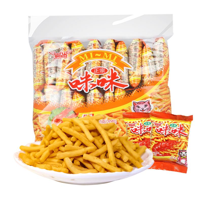 【咪咪旗舰店】咪咪虾条蟹味粒整箱20包