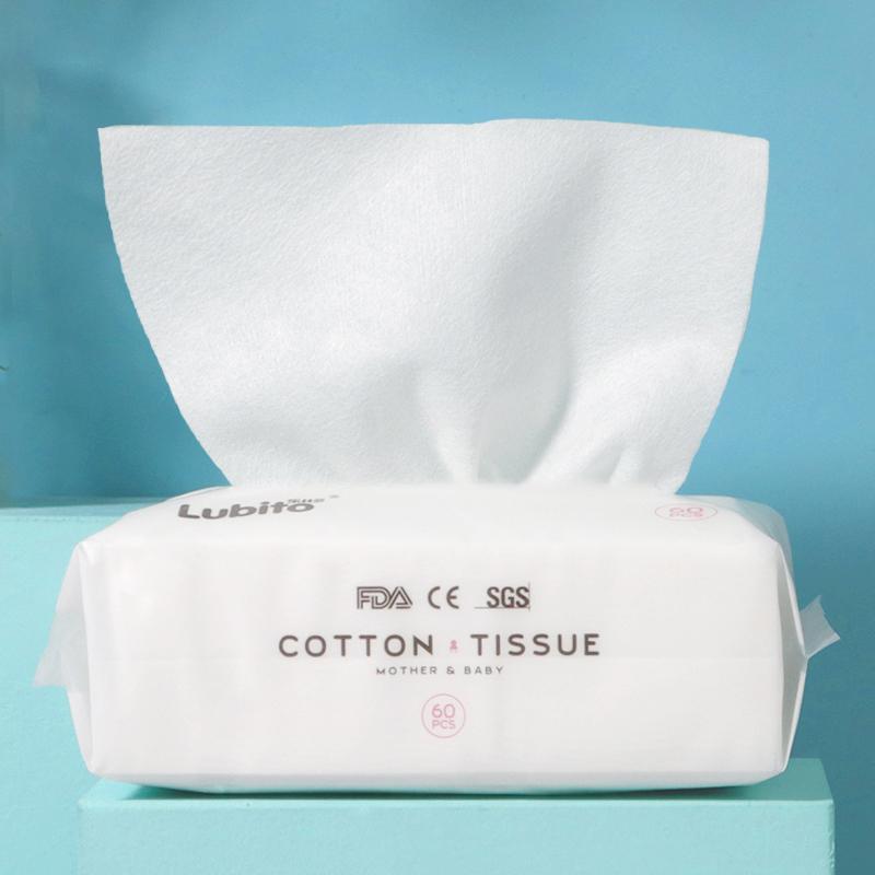 乐比多婴儿棉柔巾宝宝干湿两用巾纯棉加厚洗脸巾女一次性洁面巾