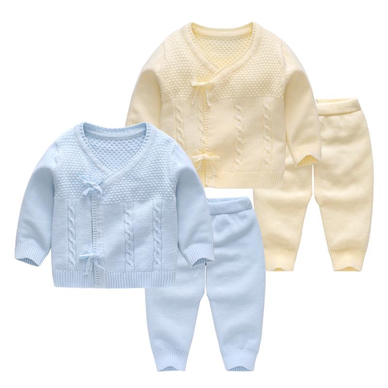 新生儿毛衣婴儿针织衫套装春秋装冬装连体衣初生宝宝秋冬季衣服