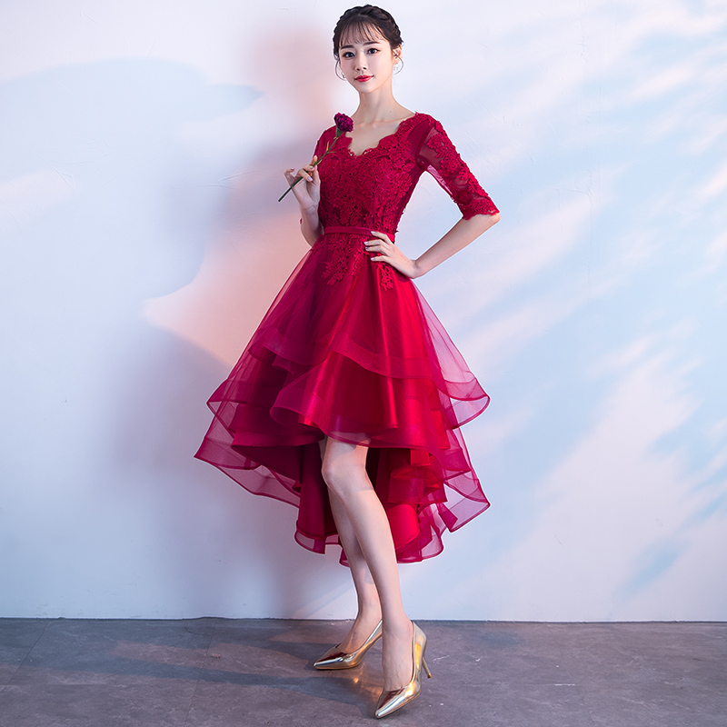 28c7b6fc7d27 Bride toast clothing 2019 new spring models modern red short ...