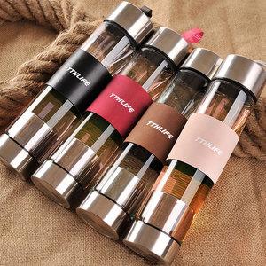 创意定制便携茶水分离过滤保温杯