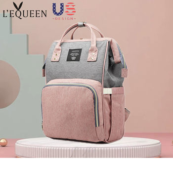 New Mummy Bag Multifunctional Fashion Mom Bag 2019 Trendy Large Capacity Storage Baby Bag Casual Backpack
