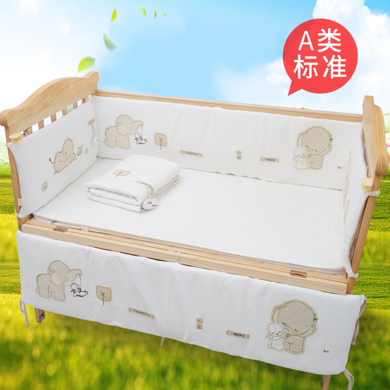 Kangbel cotton crib bed set removable washable baby bedding anti-collision children's bedding five sets
