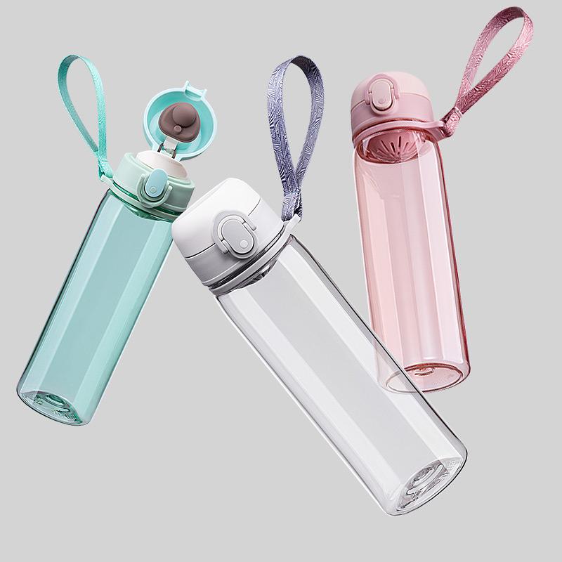 泰度 进口tritan夏天水杯简约杯子男女便携塑料杯森系ins学生防摔