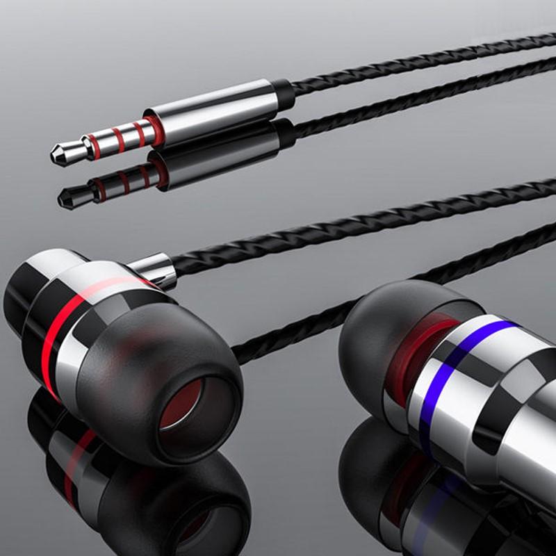 重低音游戏耳机适用OPPO华为vivo小米苹果通用可爱入耳式耳机线