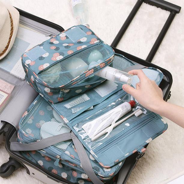 Túi vệ sinh nữ không thấm nước xách tay thiết lập du lịch không cần thiết du lịch du lịch sản phẩm lưu trữ túi du lịch cung cấp túi mỹ phẩm - Rửa sạch / Chăm sóc vật tư