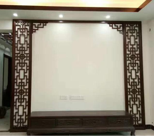 【Гуандунские производители】 новый Китайский стиль гостиной перегородки крыльца ТВ фон стены чистой массивной древесины декоративной решетки F6
