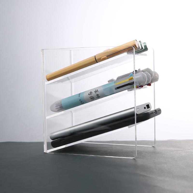 【天天】亞克力透明筆筒創意時尚多功能韓國女辦公室筆架收納盒小桌面擺件