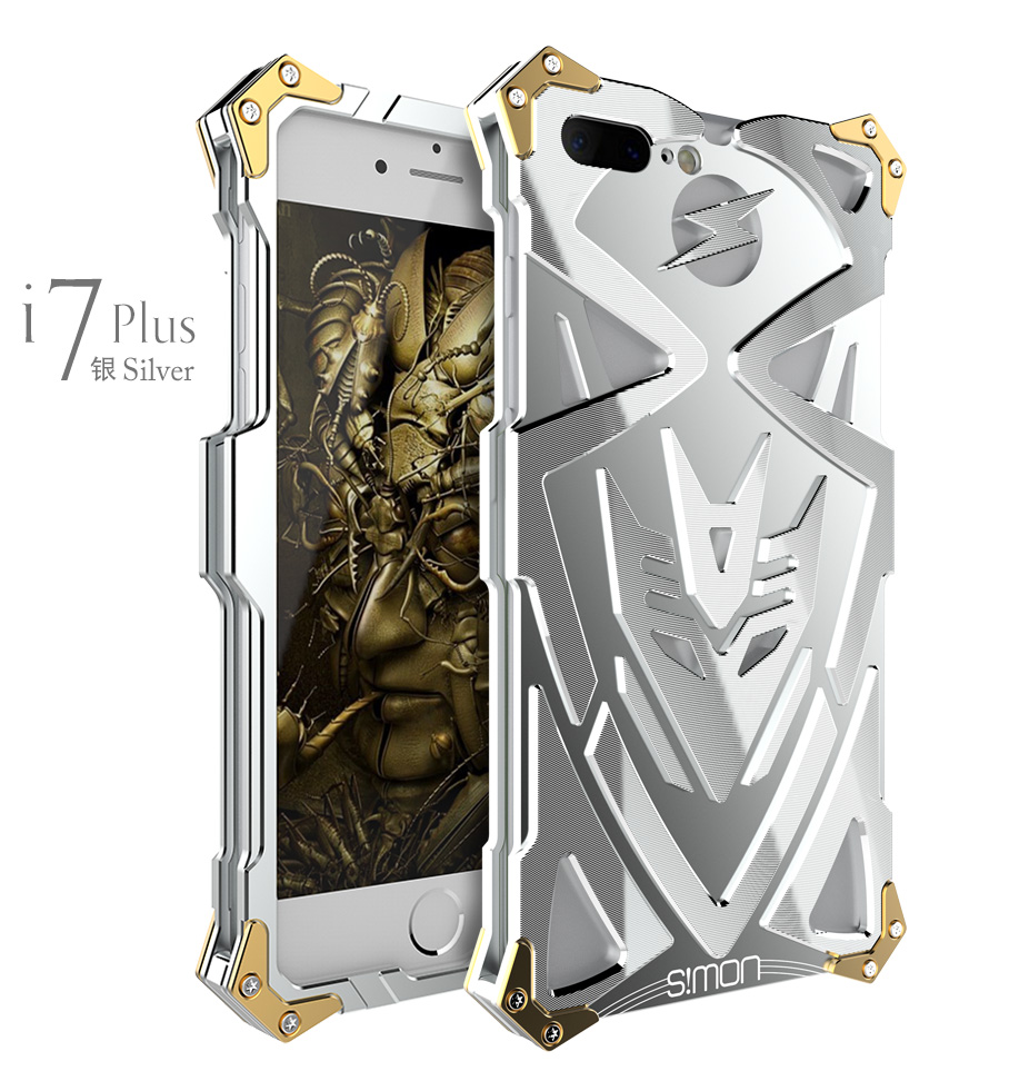 SIMON THOR Ⅱ Aviation Aluminum Alloy Shockproof Armor Metal Case Cover for Apple iPhone 7 Plus & iPhone 7