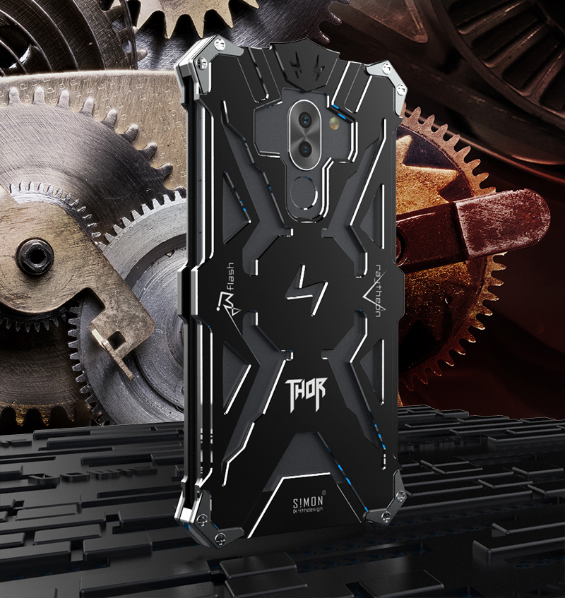 SIMON THOR Aviation Aluminum Alloy Shockproof Armor Metal Case Cover for Huawei Honor 6X