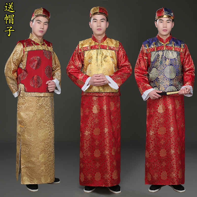 fb7df60a9 The Qing dynasty baiye elder brother emcee costume adult young gentleman  outside the landlord of the ancient imperial court costumes