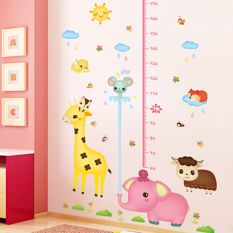 Cartoon Measuring Height Stickers Wall Painting Baby Children S Room Wall Decoration Children S High Foot Wall Stickers