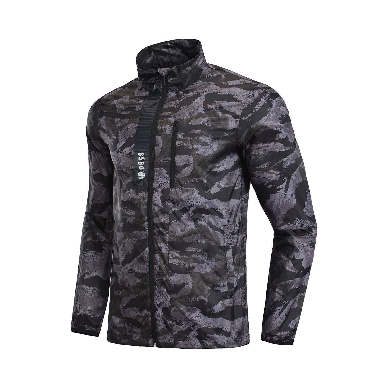 Áo khoác mùa hè 2018 Li Ning nam thể thao áo gió trùm đầu áo khoác thể thao AFDN067-1-2 - Áo gió thể thao