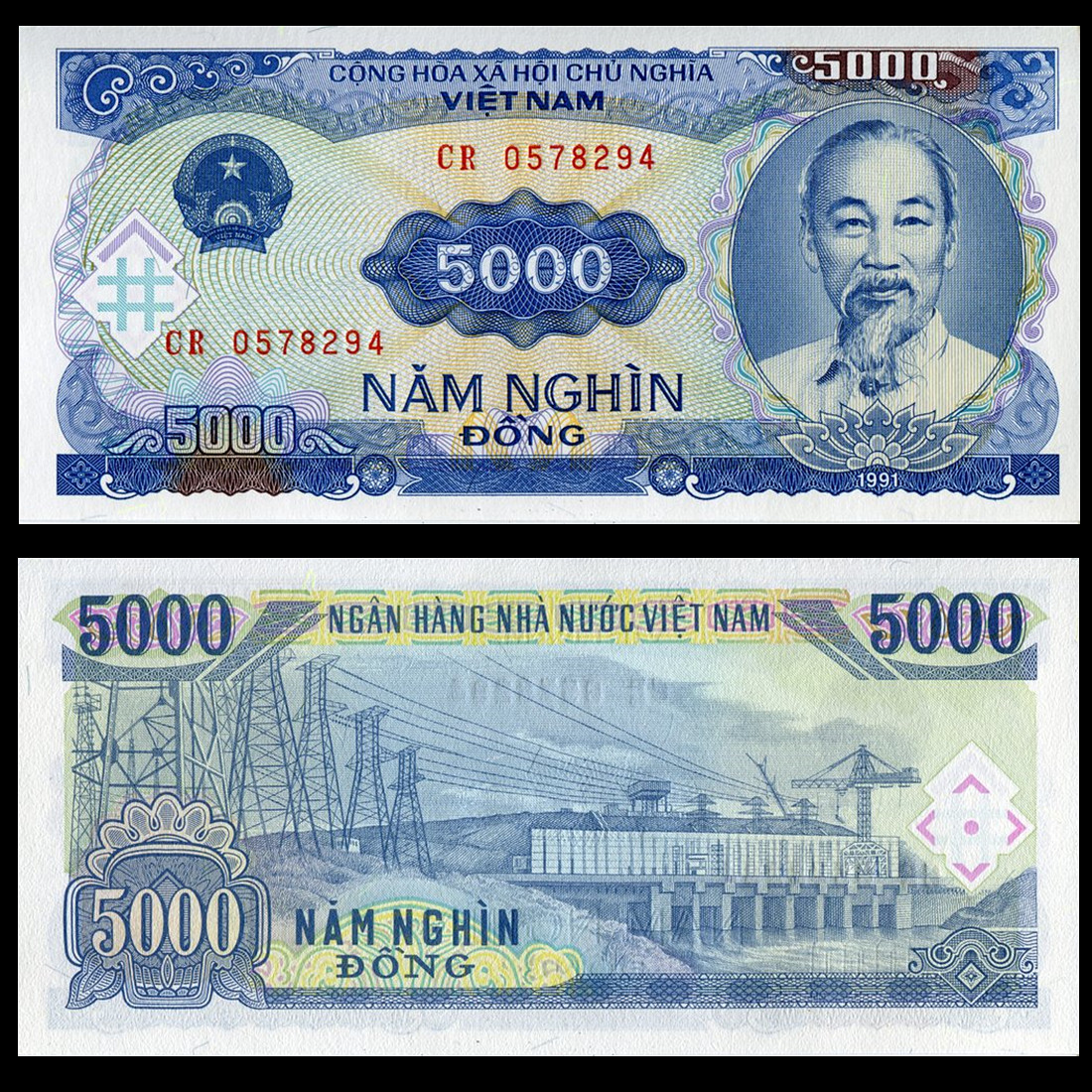 Full Of Six Diffe Vietnam 5000 Vnd Foreign Currency Banknotes Coins Fidelity
