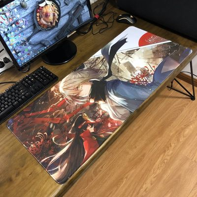 fate oversized mouse pad saber Jeanne of Arc table mat fgo two-dimensional animation lock edge gaming keyboard pad customization