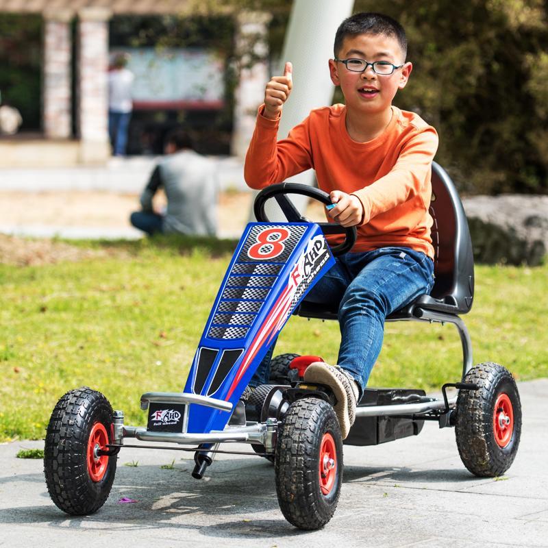 玩具广场娱乐充气儿童少年通用卡丁车健身轮四轮脚踏5岁以上出租