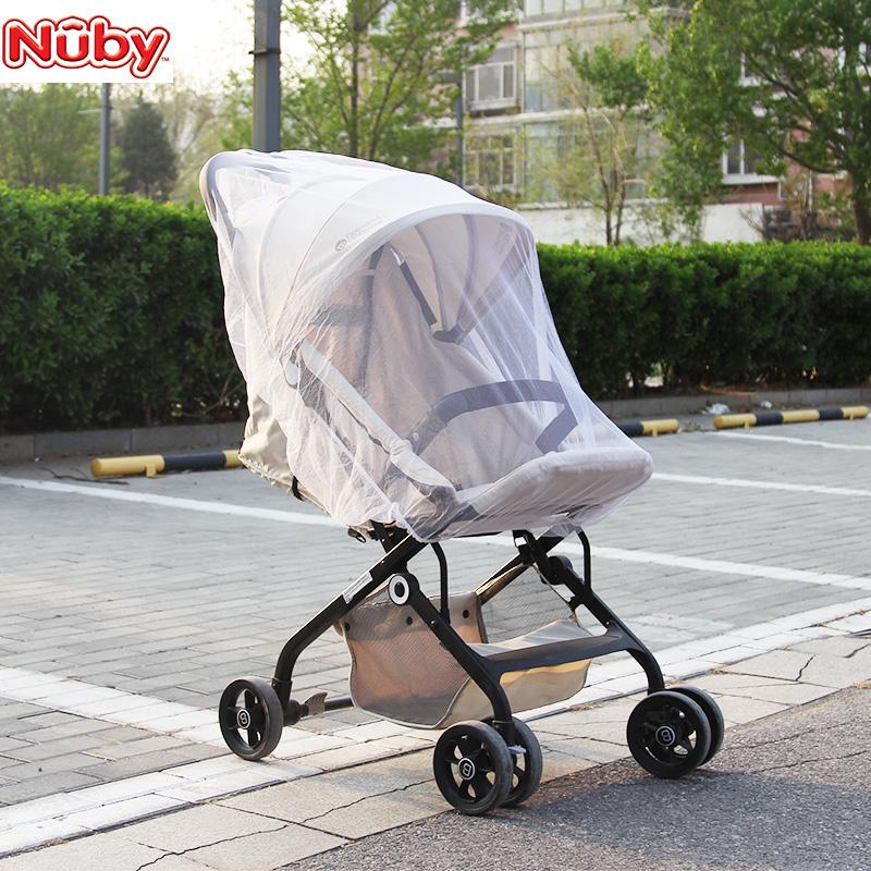 美国Nuby婴儿床儿童宝宝游戏床家用推车蚊帐网纱通用透气防晒防蚊