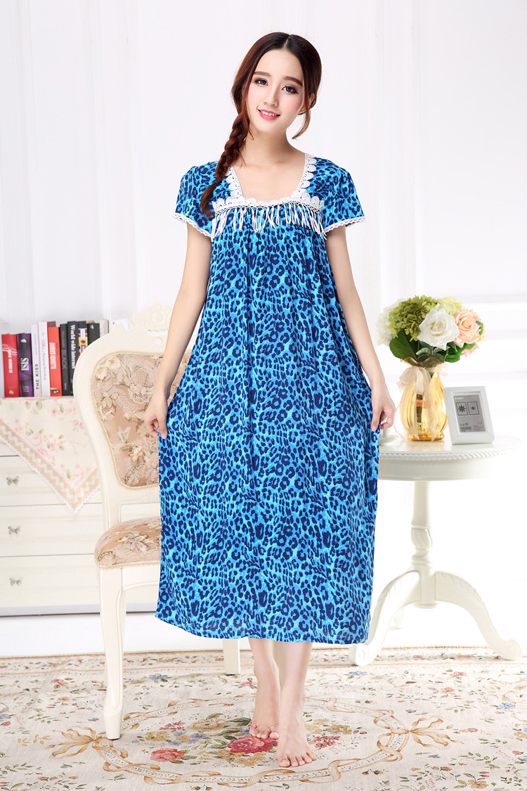 a1df1c97d7 2016 New Long Nightdress Womens Nightgowns Cotton+Silk Loose ...