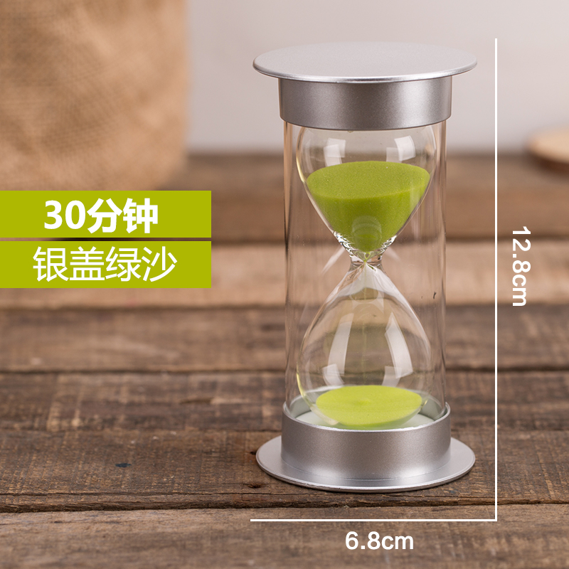 Hourglass 10 15 20 30 minutes timer child safety plastic anti-drop sound  Home Girl Day gift
