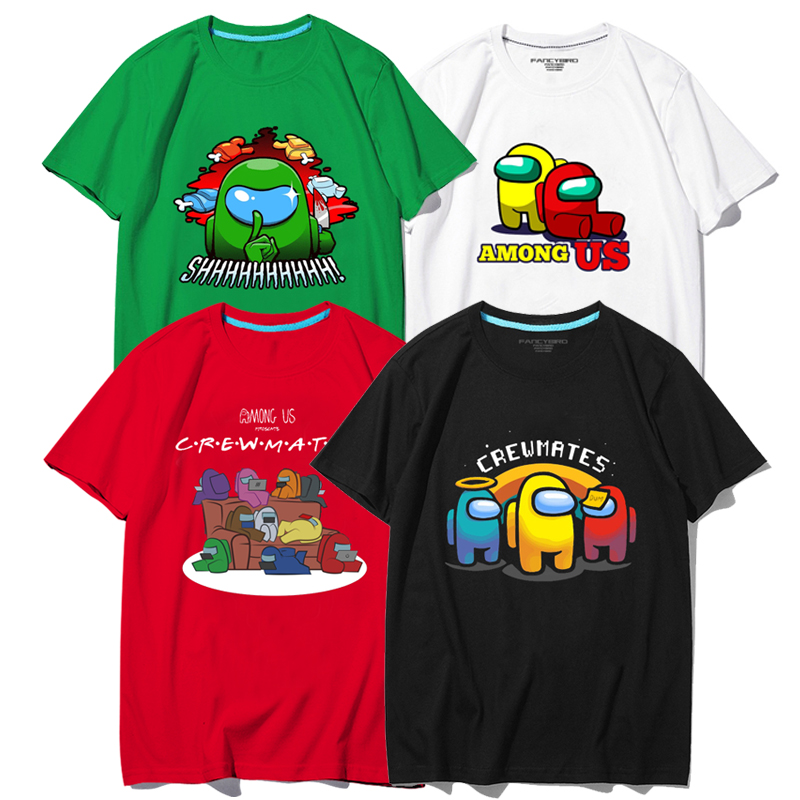T恤Among Us周边在我们当中我们之中有内鬼太空狼人杀衣服有儿童