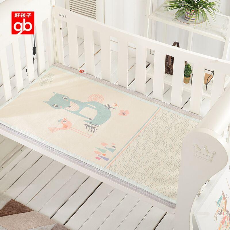 gb好孩子婴儿凉席冰丝宝宝凉席新生婴儿床凉席夏季幼儿园席子透气
