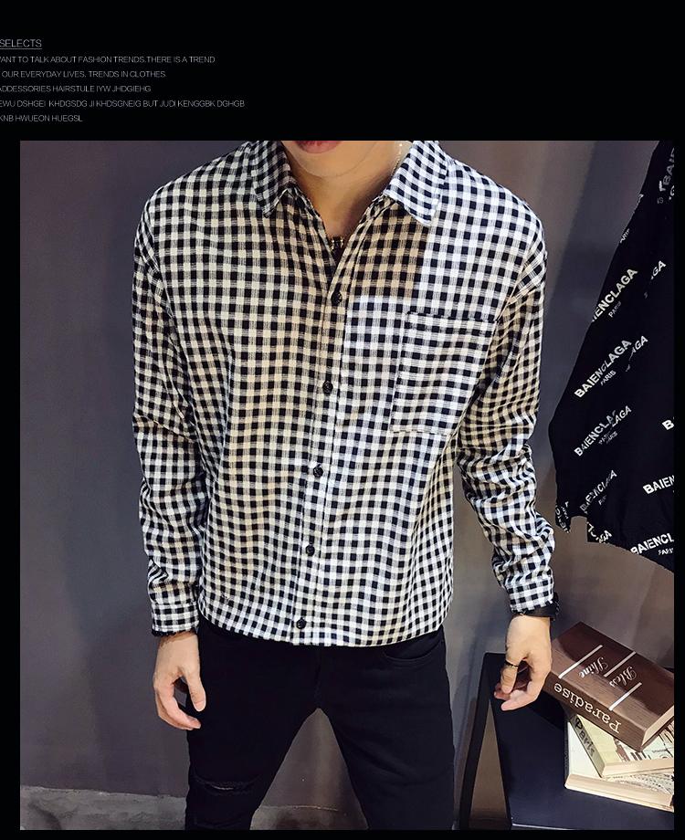 2019春装新款磨毛长袖衬衫 A011-C917*P45
