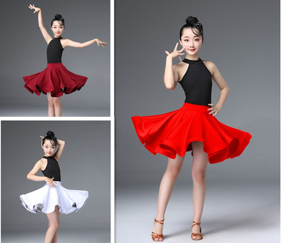 Girl's Latin dance dress girl's performance competition children's Latin clothing professional children's dance clothes training clothes