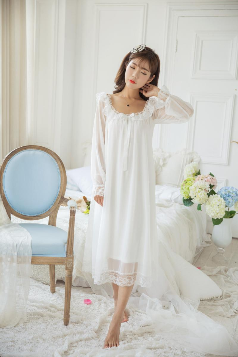 Lady Lolita Victorian Nightwears Sleepwear Pajamas Suits Embroidered Lace Ruffle